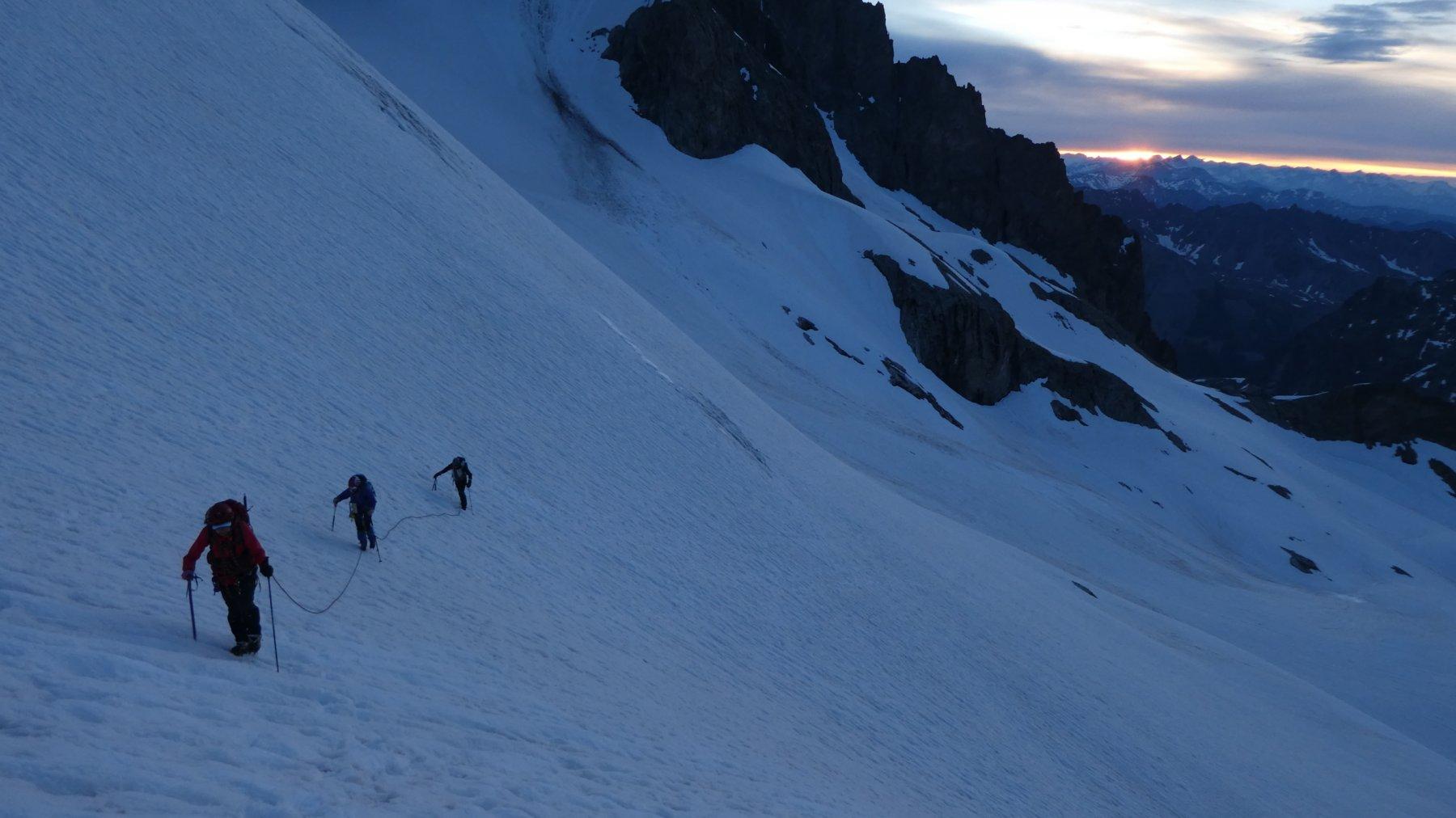 nella prima parte del Glacier Superieur des Agneaux