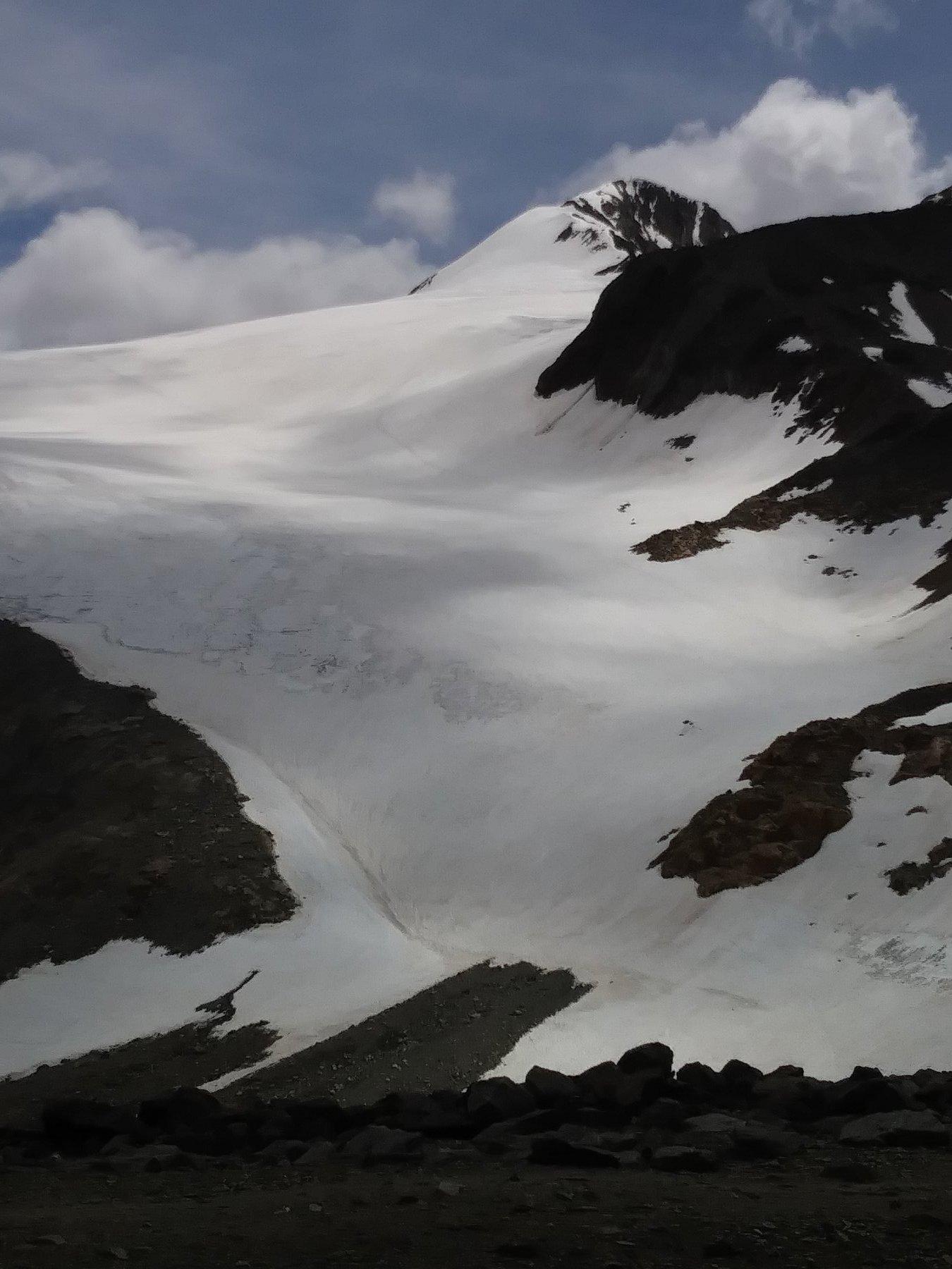 Condizione della salita sul ghiacciaio
