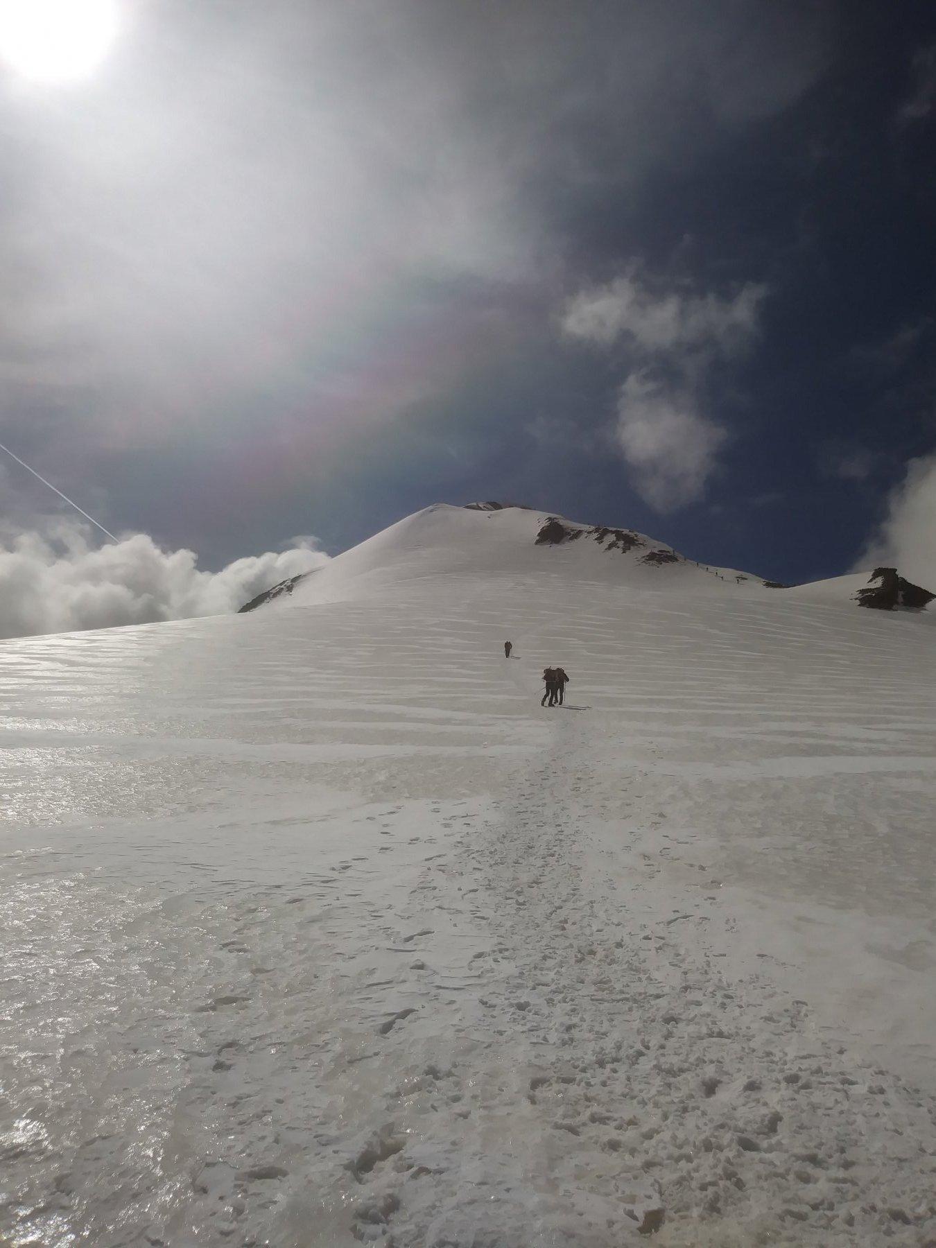 Cresta e ghiacciaio in ottime condizioni