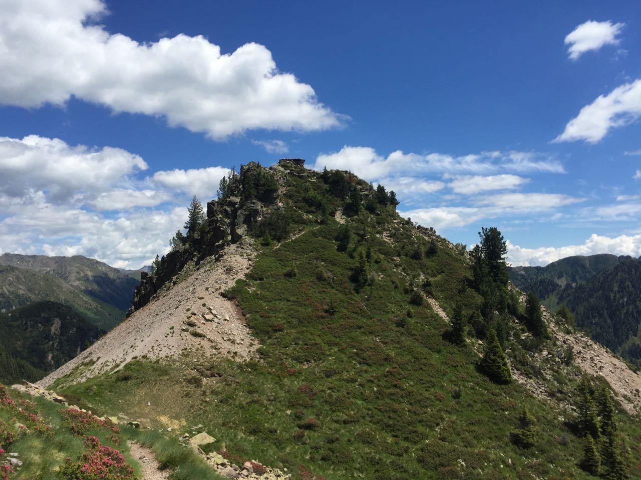 Fornace (Cima) e Monte Croce dal Passo Manghen 2018-06-26