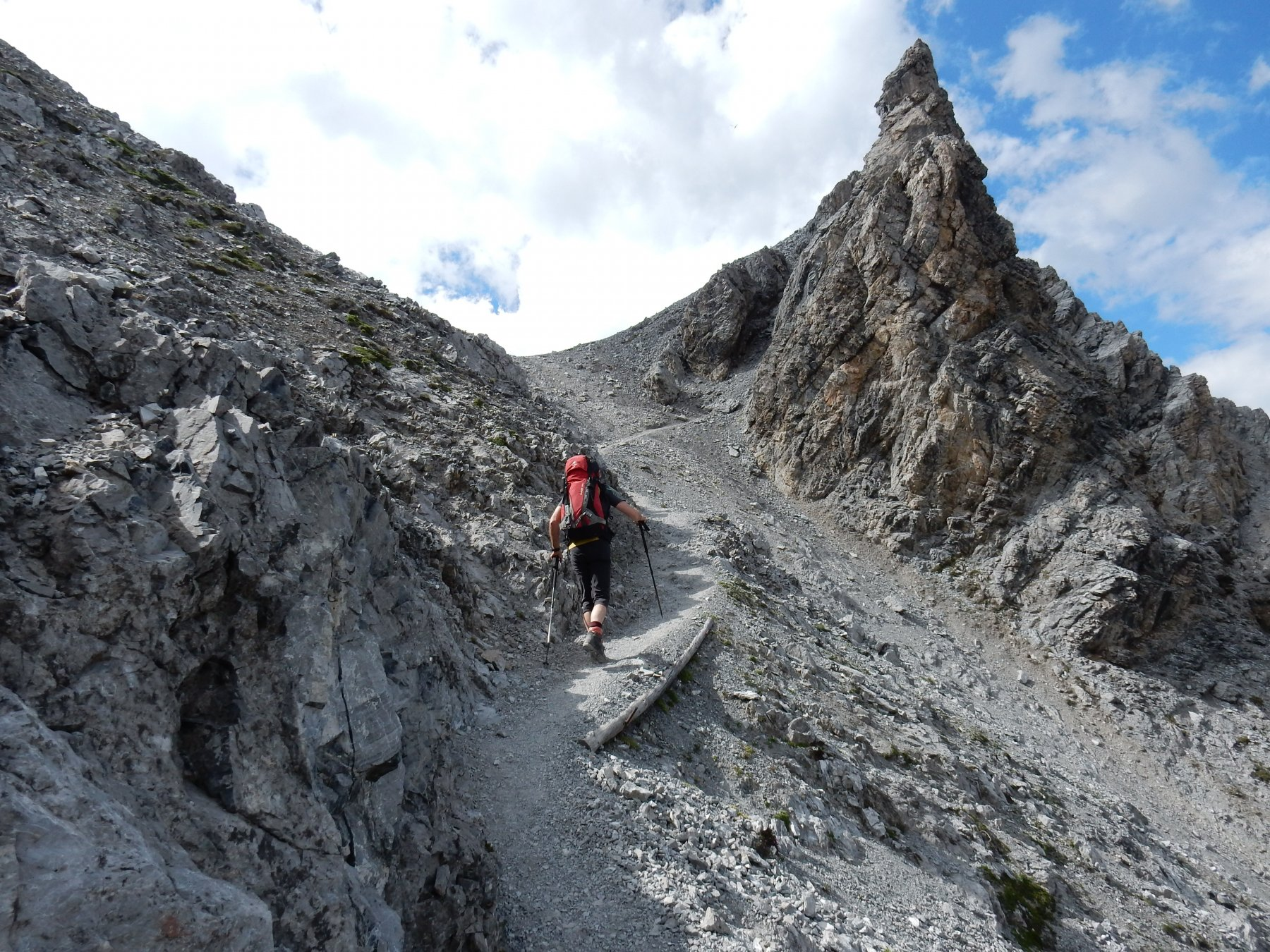 Ultimi metri prima della Tabaretta Scharte 2903mt.