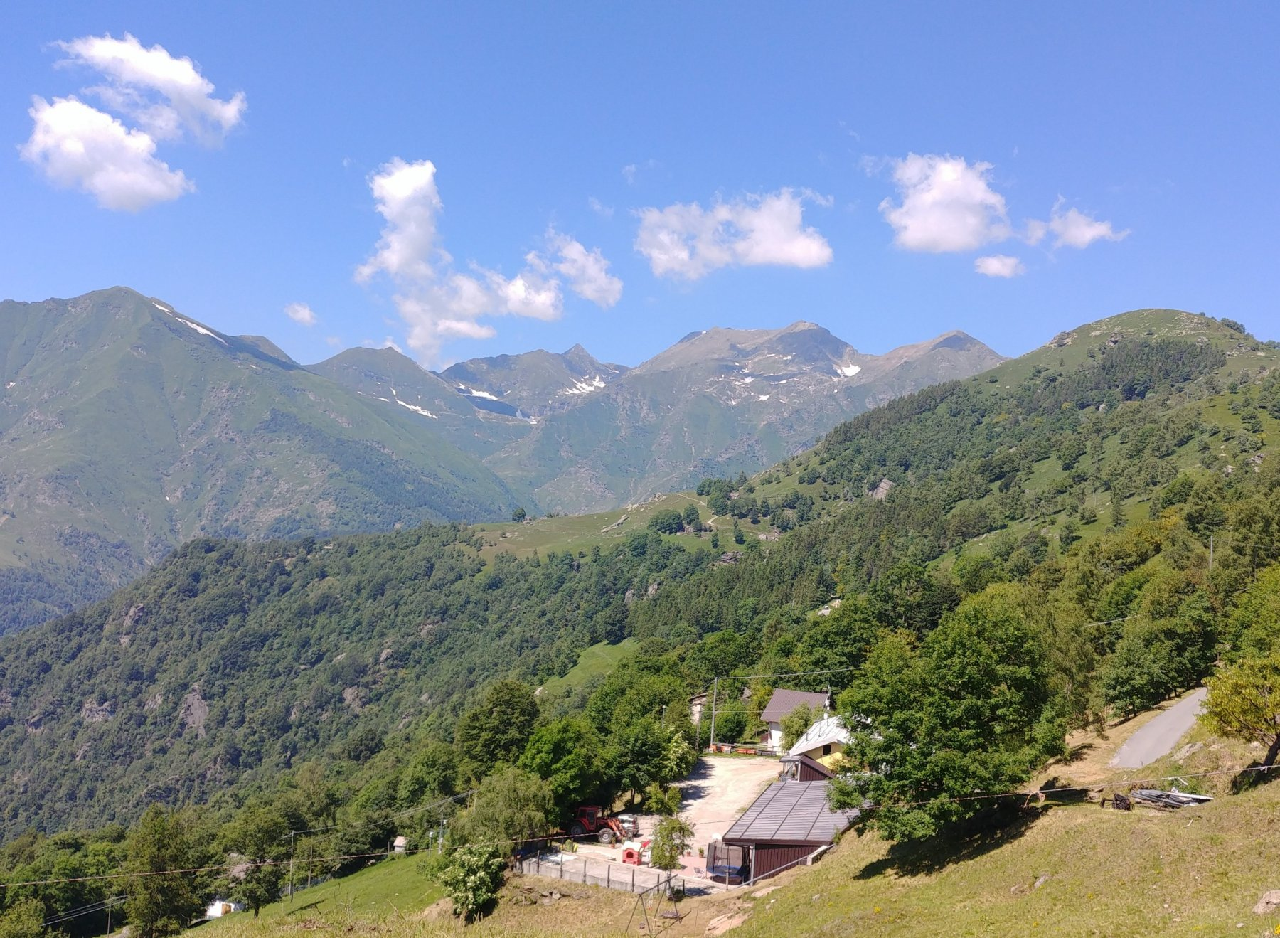 Panorama dal Colle Vaccera