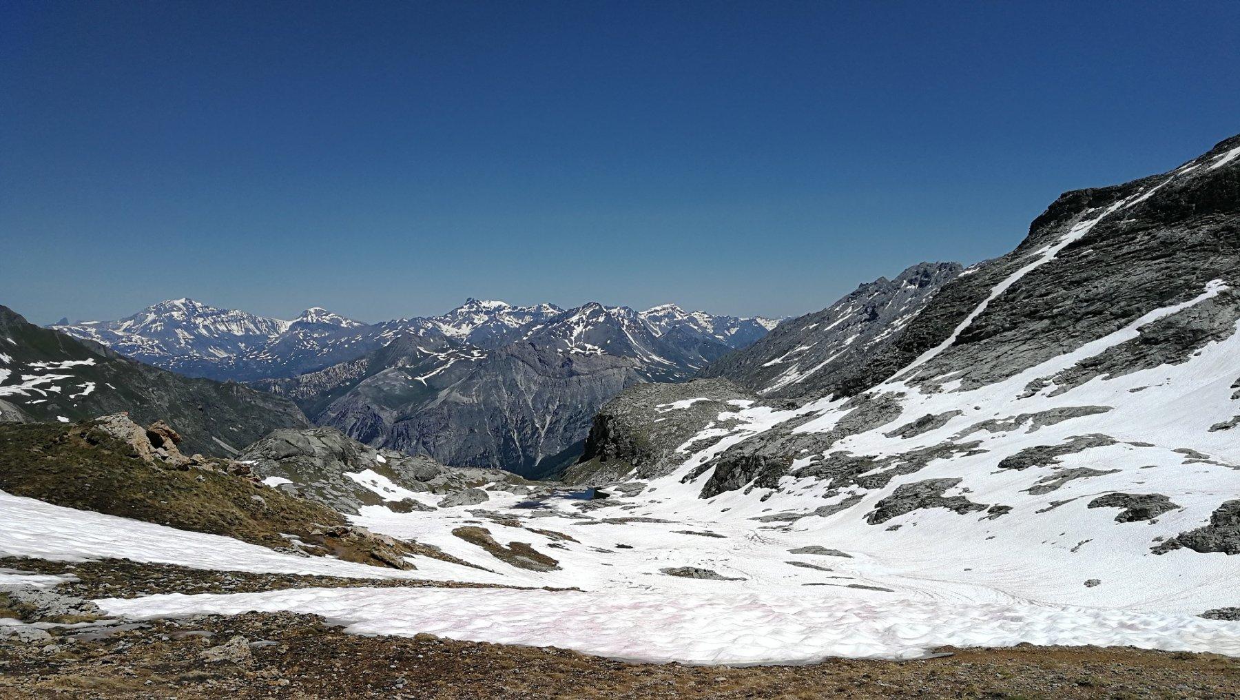 Panorama dal Colle d'Etiache, lato Francia