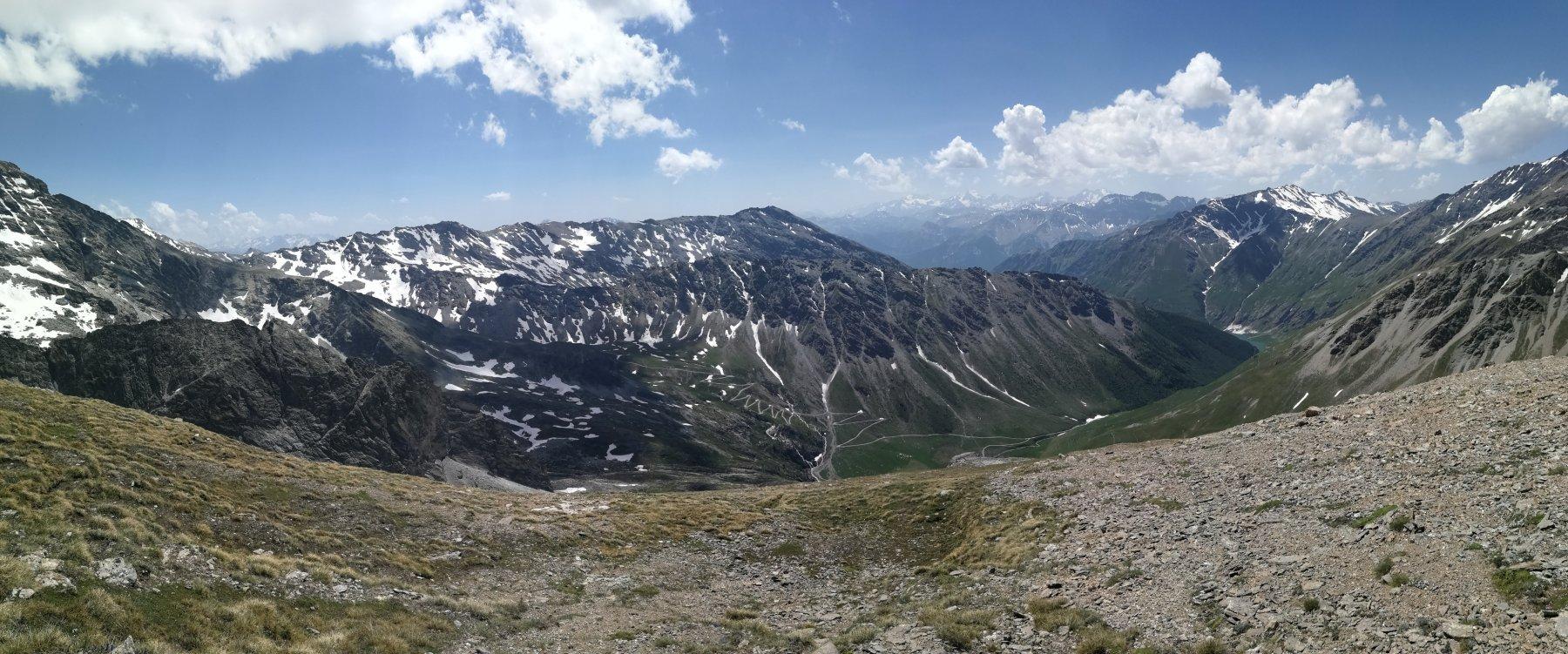 Alta Valle di Rochemolles, con i tornanti di salita al Colle Sommeiller