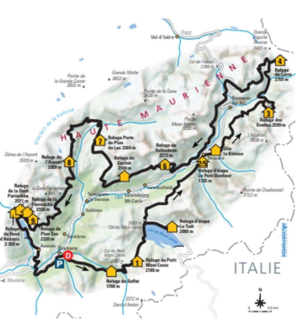 Itinerario dell'intero tour