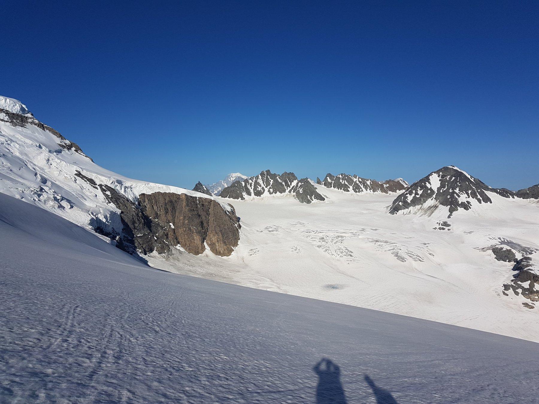 Spunta il Monte Bianco
