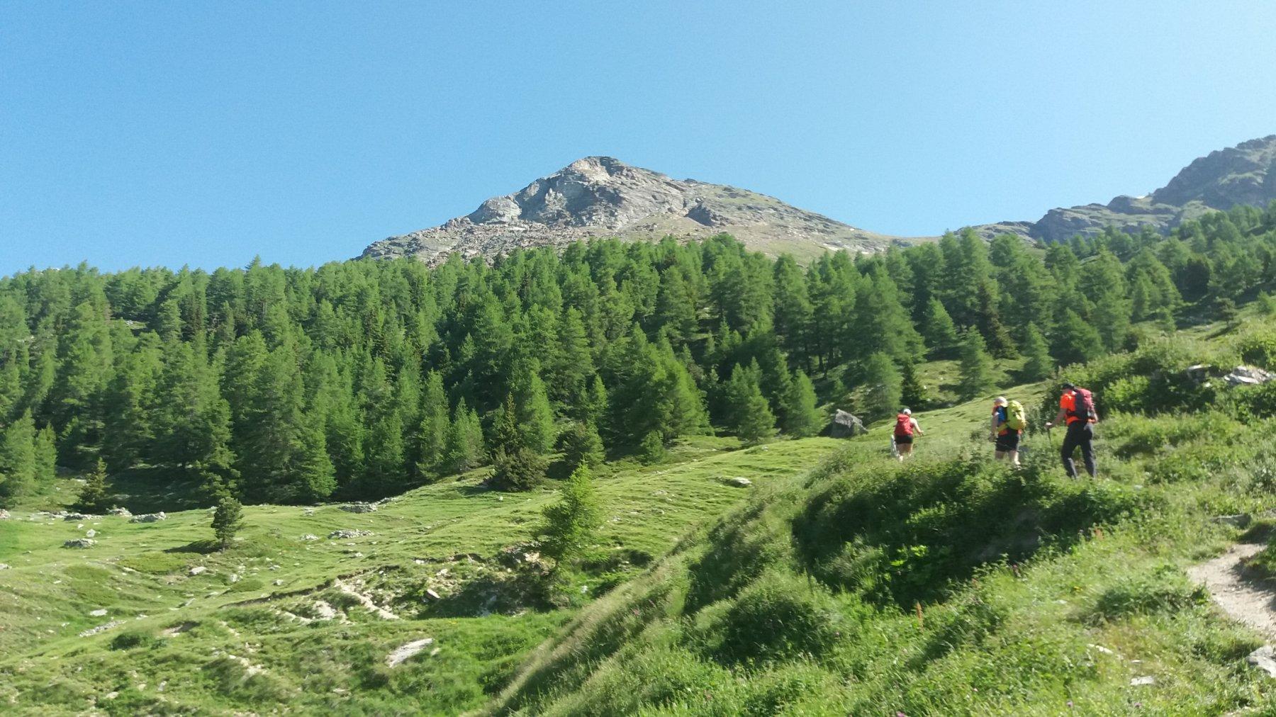 La Becca di Viou vista dal sentiero poco sopra Blavy