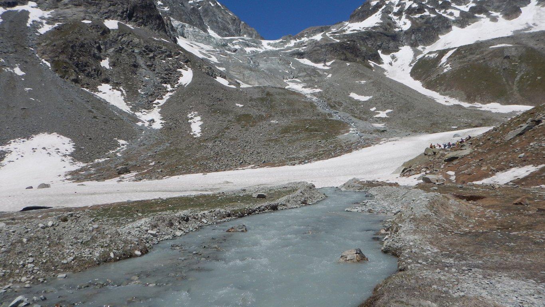Tanta acqua sul percorso per il rifugio