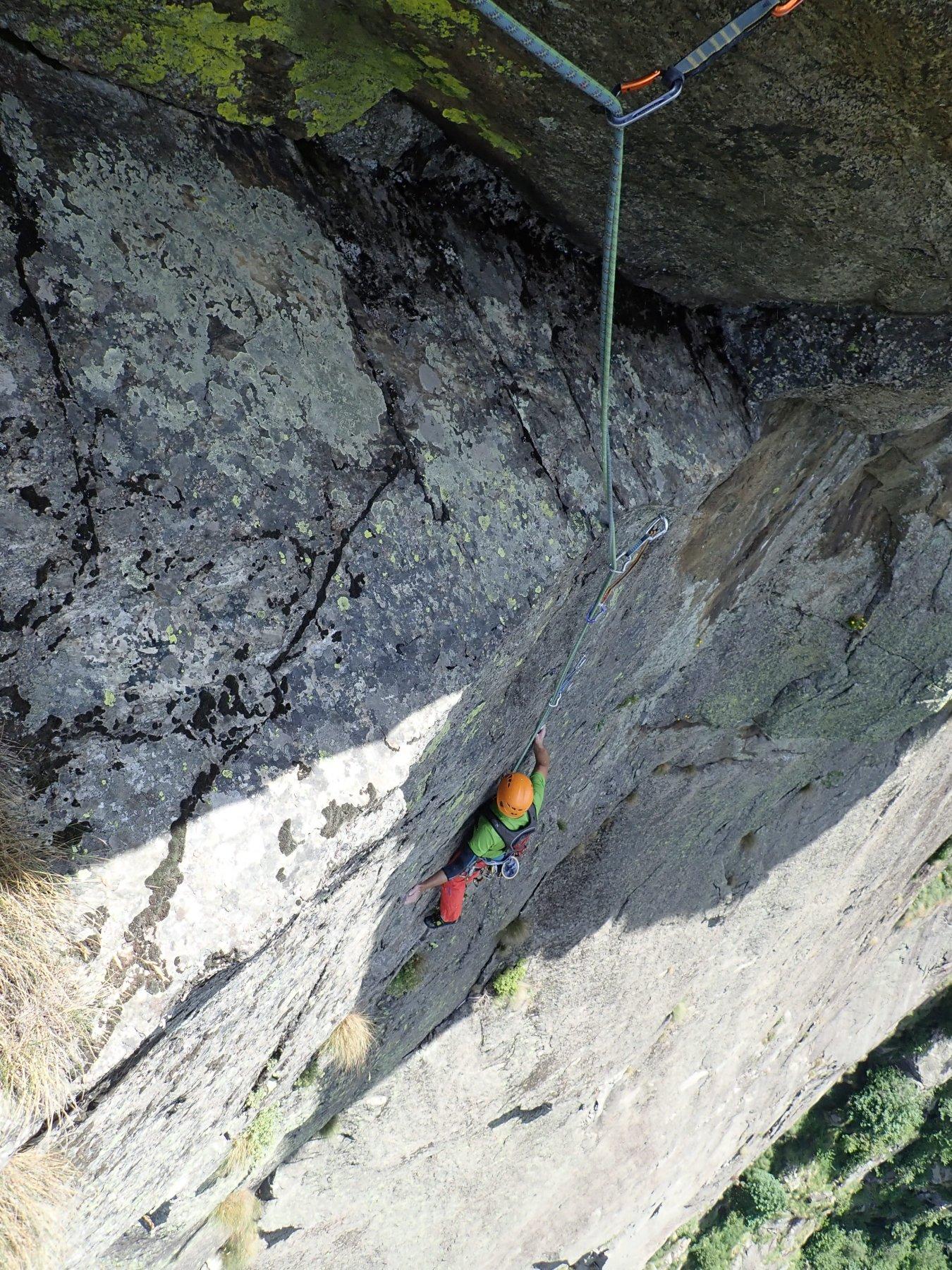 il difficile muro verticale di L7