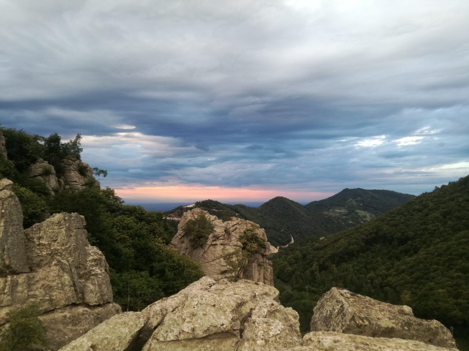 Panorama dalla cima del torrione C