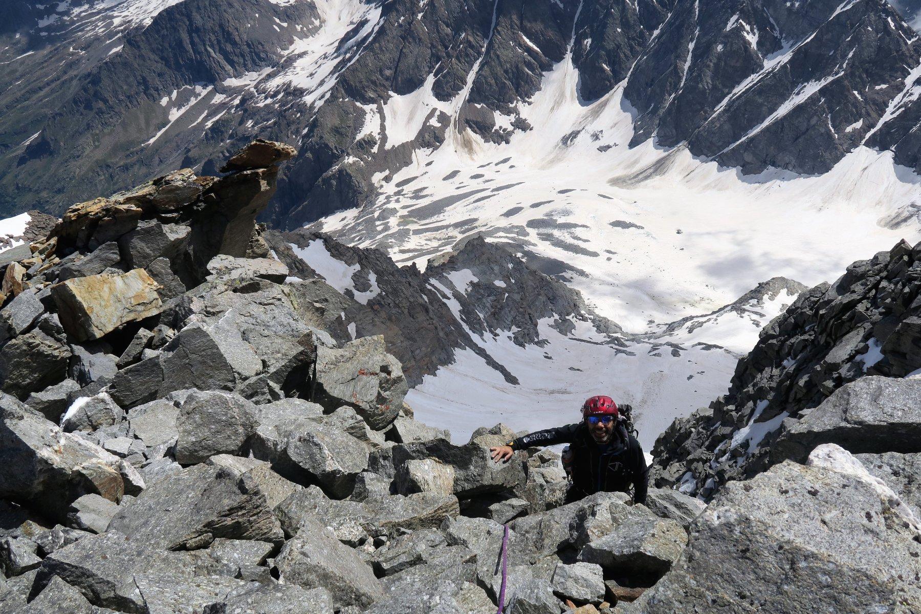 ultimi metri prima dell'arrivo in coppa al monte....che quota 3692