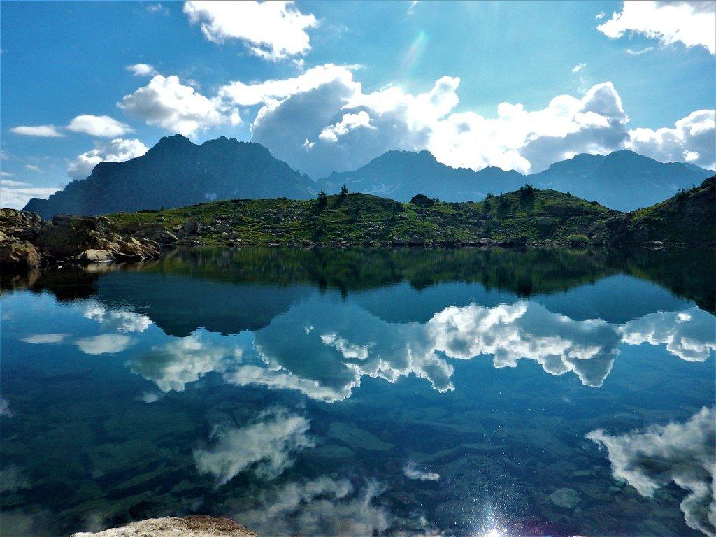 Nubi nel lago di S. Anna
