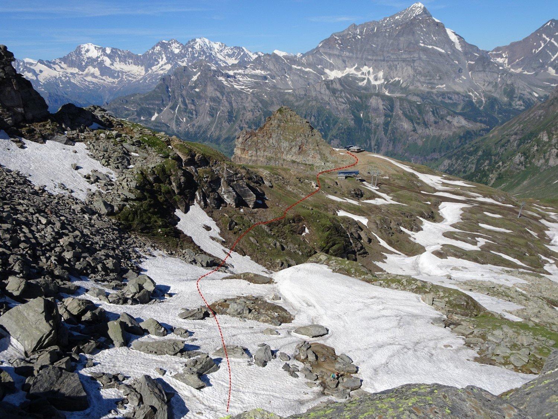 prima parte del percorso (visto dall'alto)