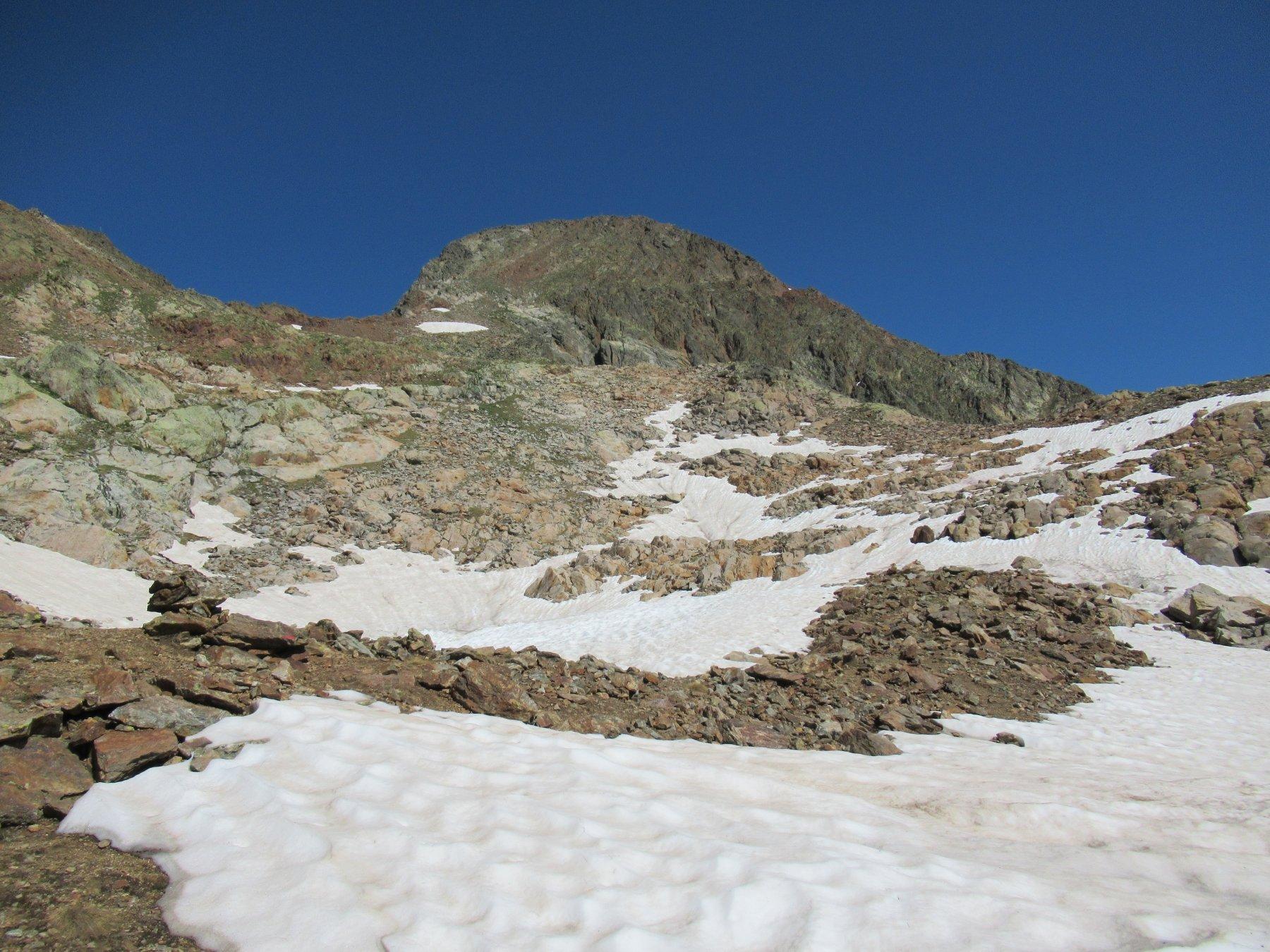 Monte Malinvern dalla parte superiore dell'itinerario.
