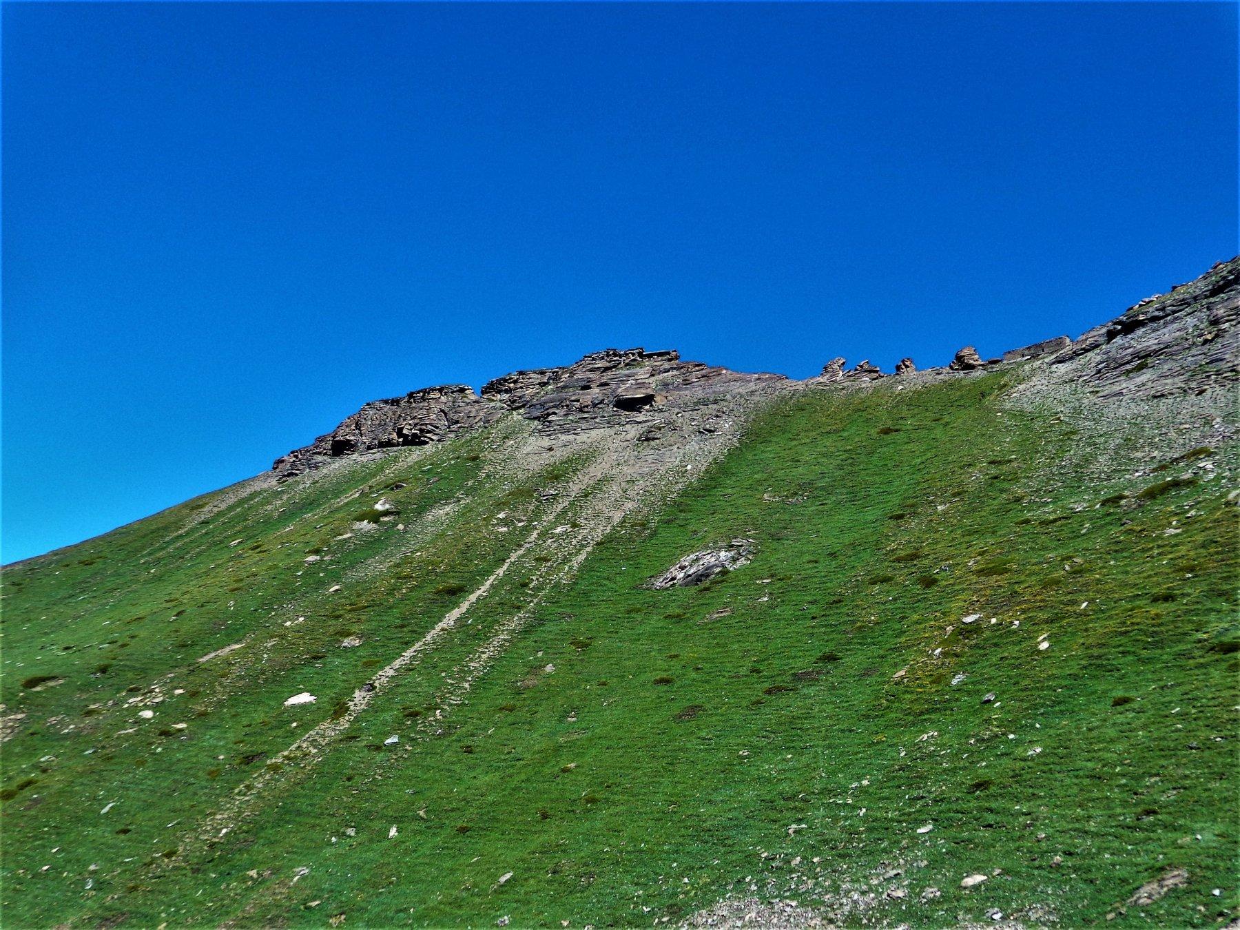 La Becca vista dal sentiero 7A