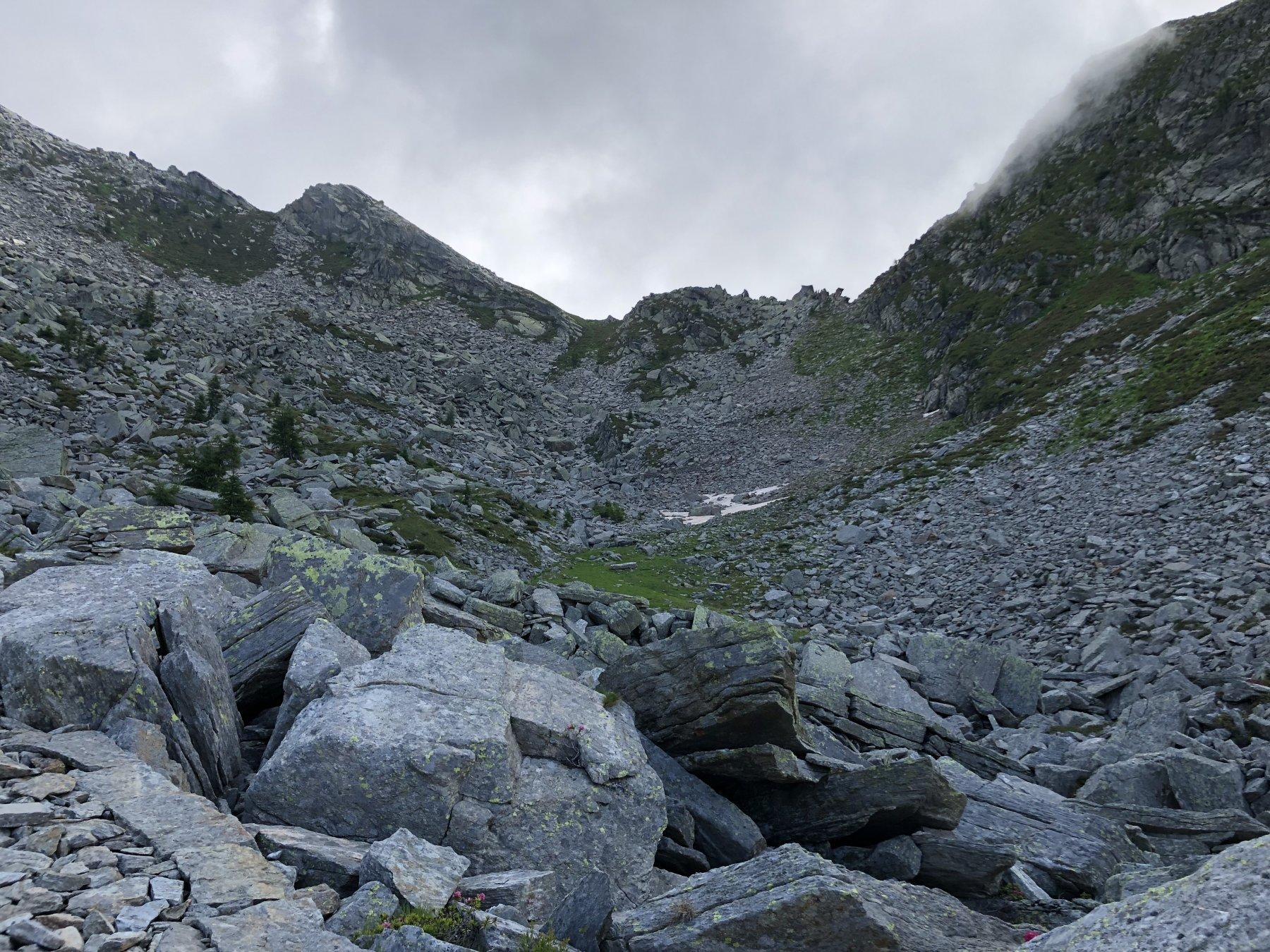 Paesaggio nella parte finale della gita