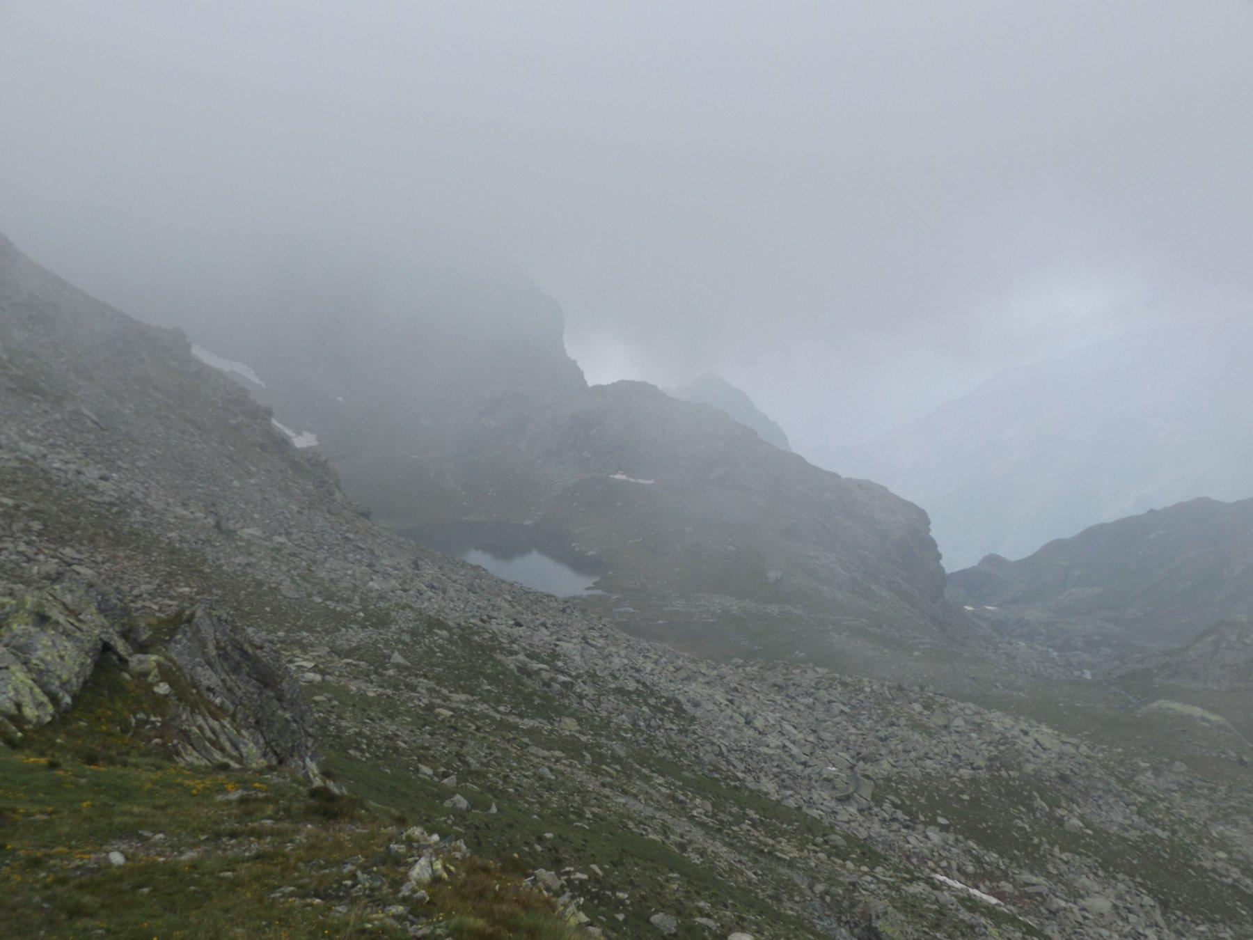 Lago la Reale visto dal colle