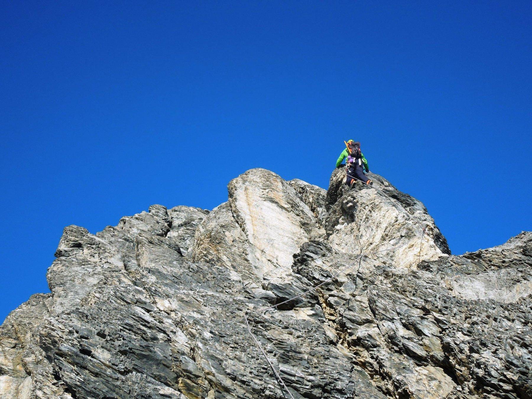 Si arrampica anche....