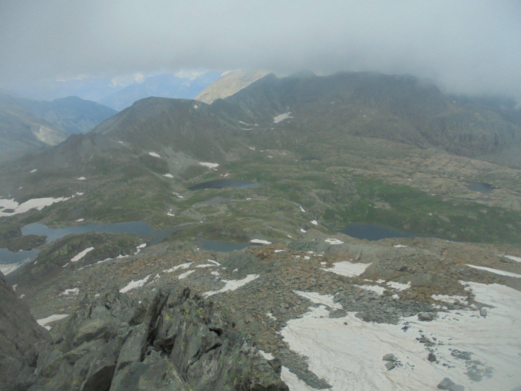 Panorama sui laghi dai pressi della Gran Rossa