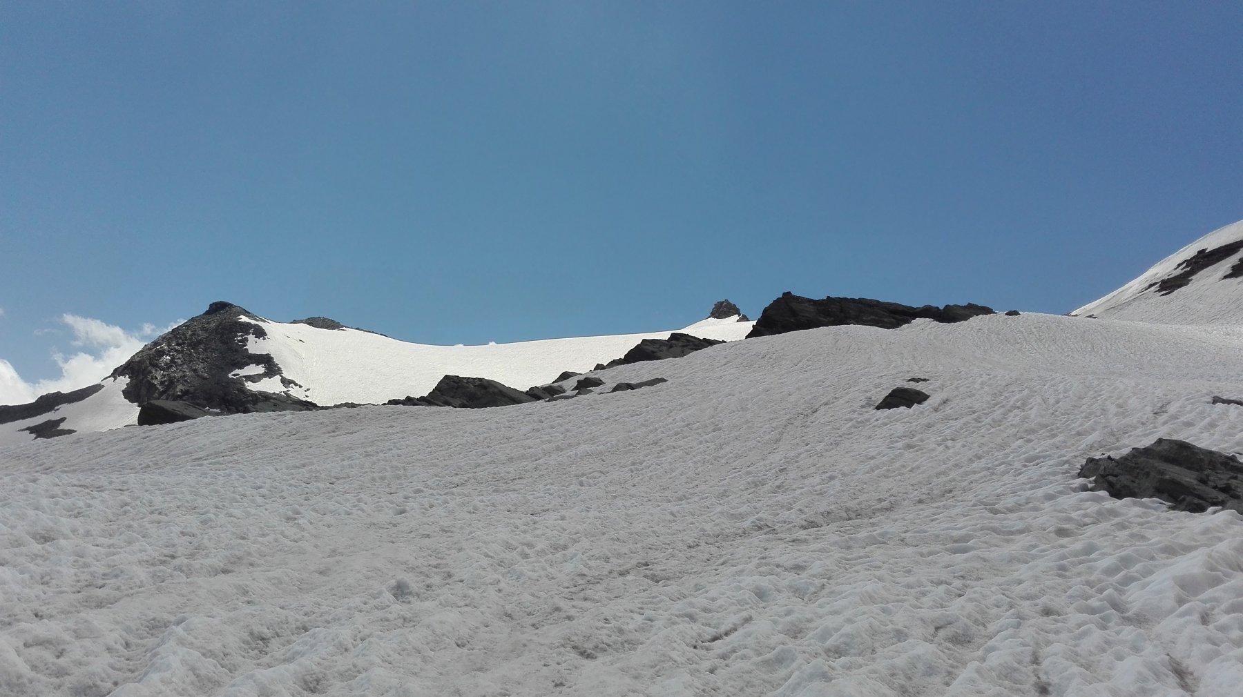 la neve lungo il traverso