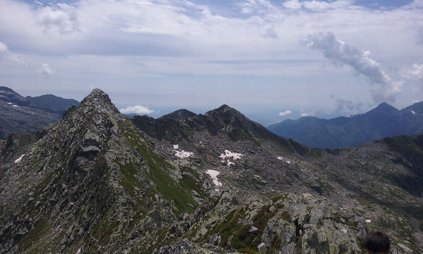 Punta Tre Vescovi dalla cima della Lazoney