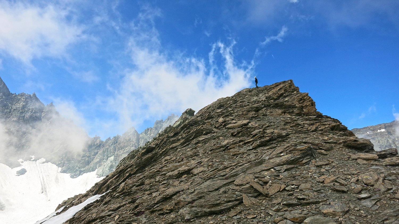 Nicola rientra dalla cima