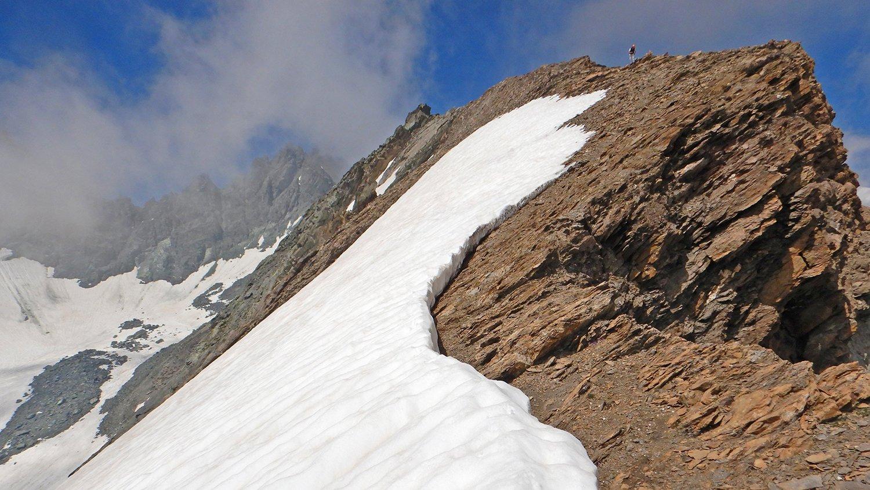 Eugenio in cresta poco sotto la cima