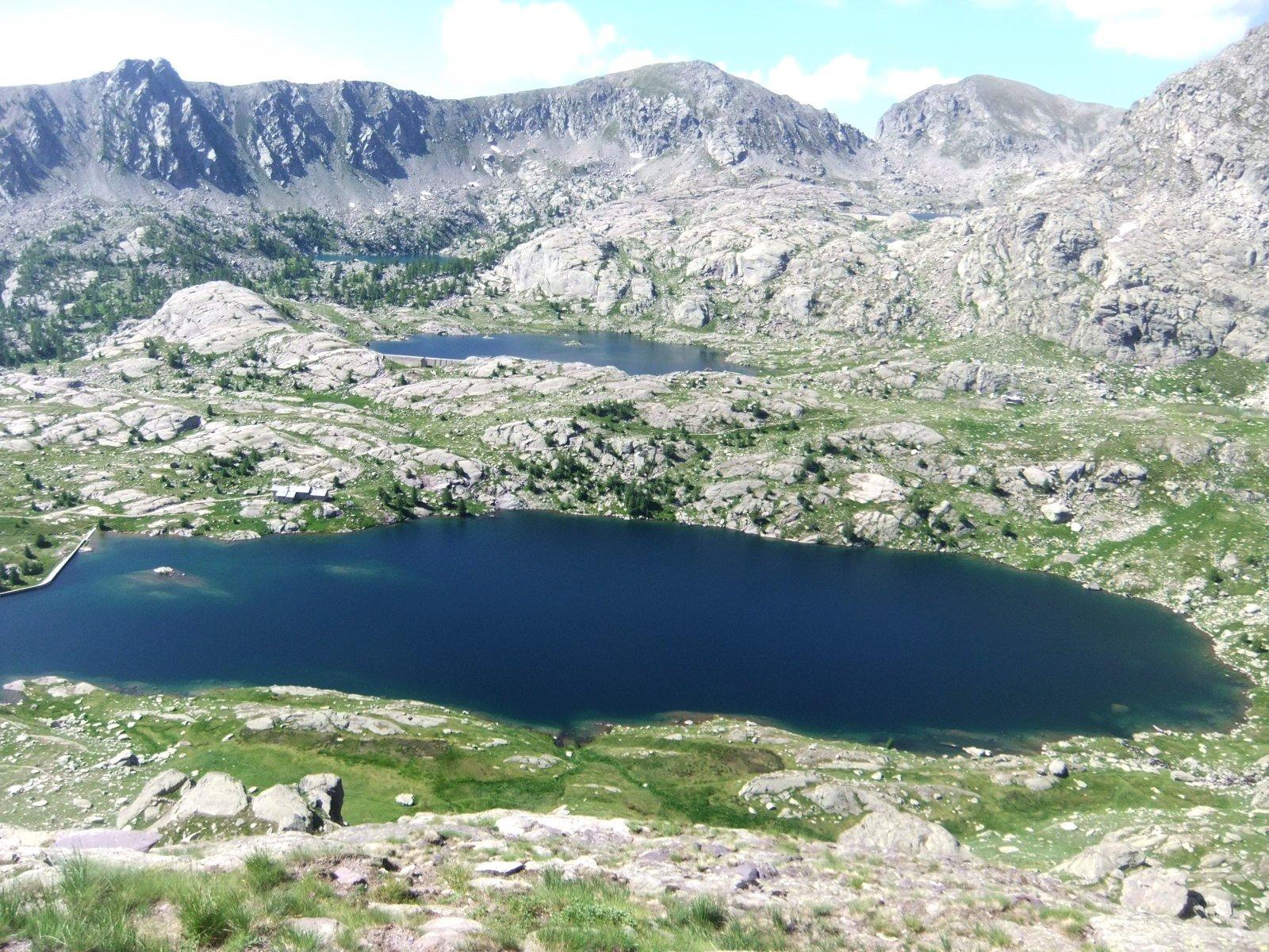 I laghi ,salendo verso il Bego