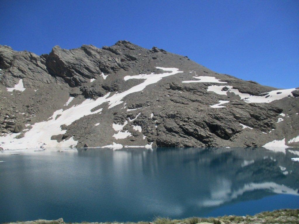 Frema vista dal lago 9 colori di ritorno dall'Homme