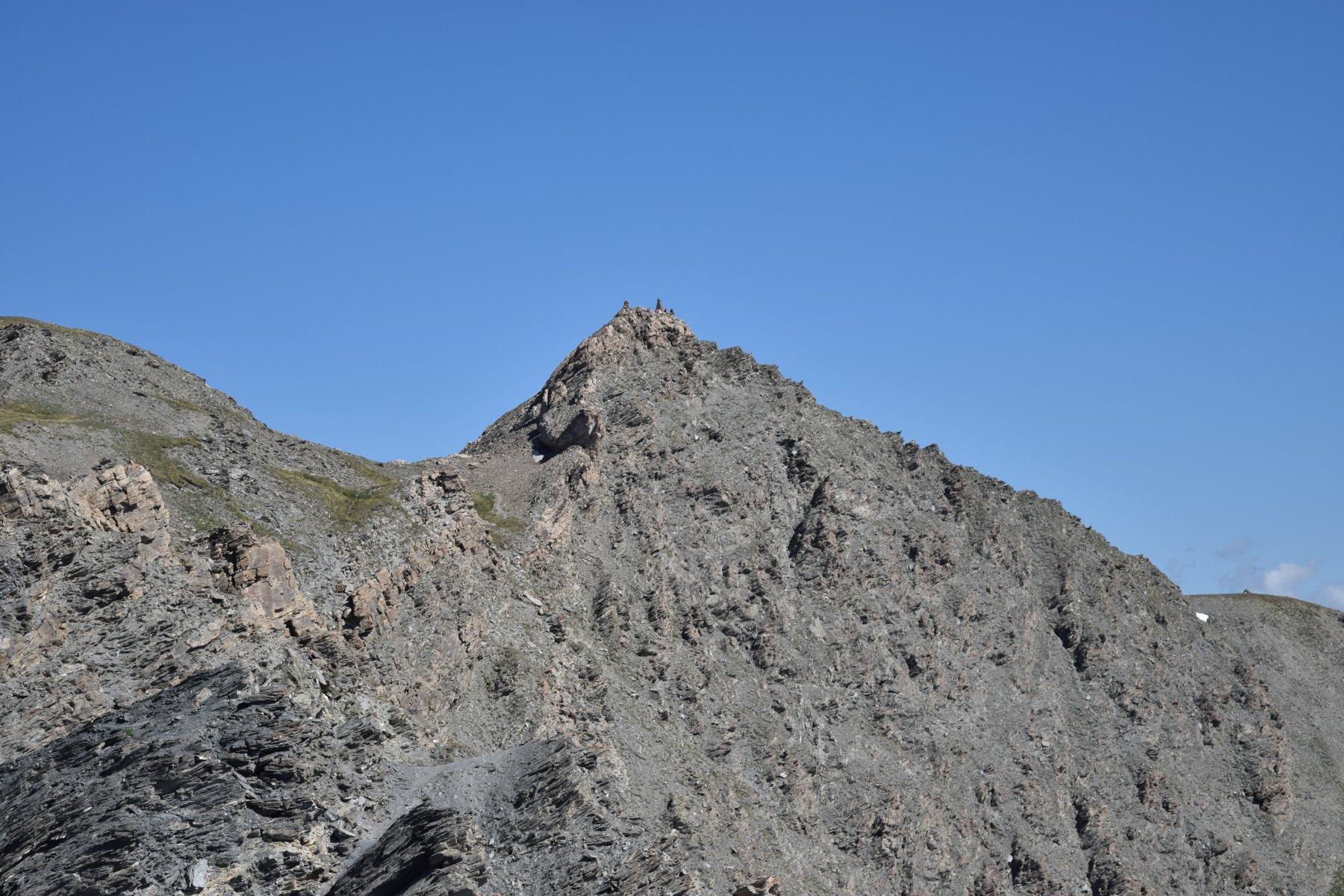 Il Pic de Forèant visto dal sentiero che sale in cresta.