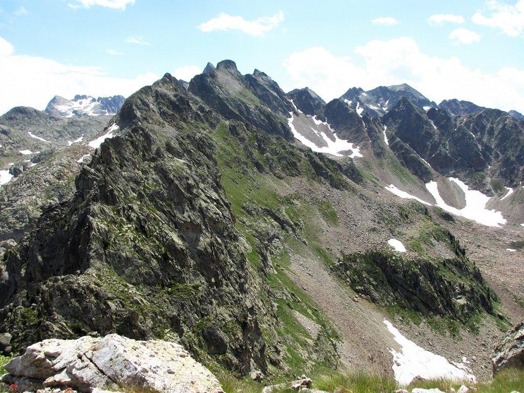 La lunga cresta fino a Rocca Pan Perdù
