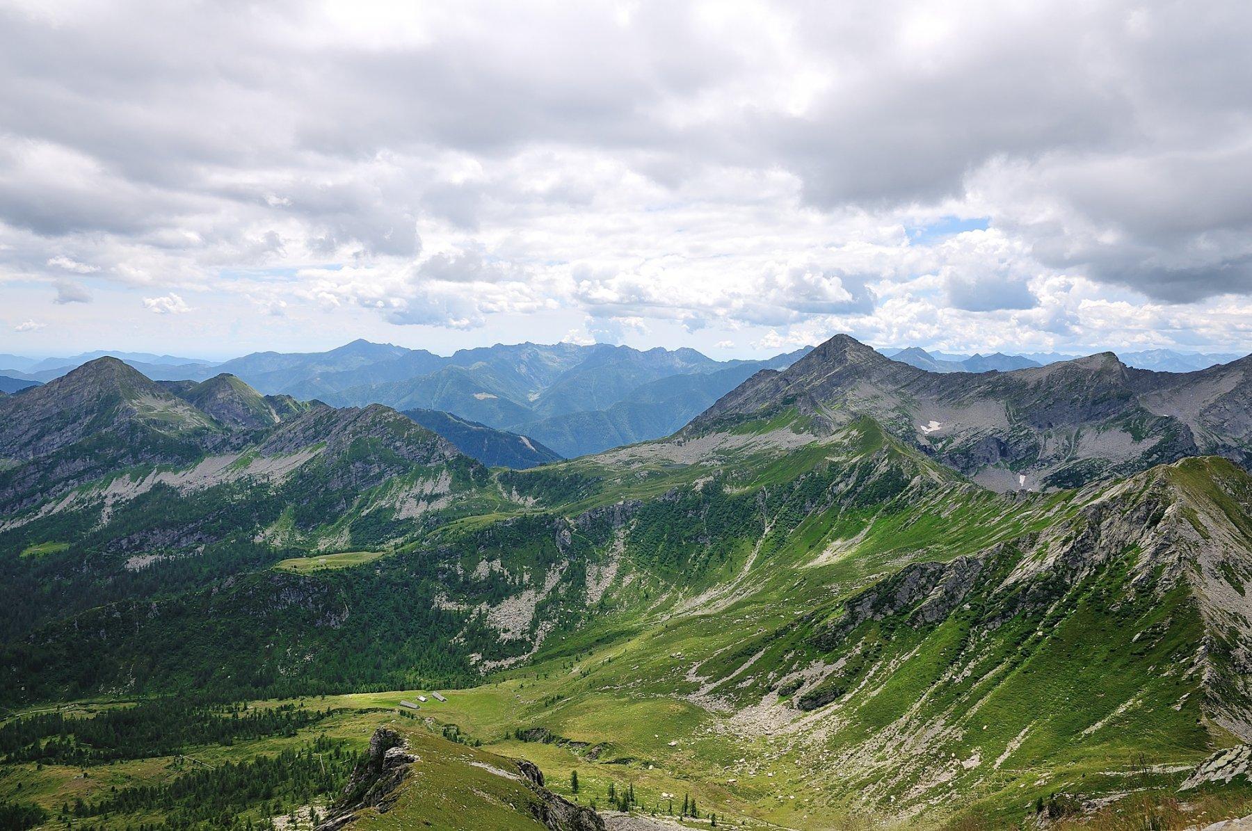Vista di vetta versante Onsernone
