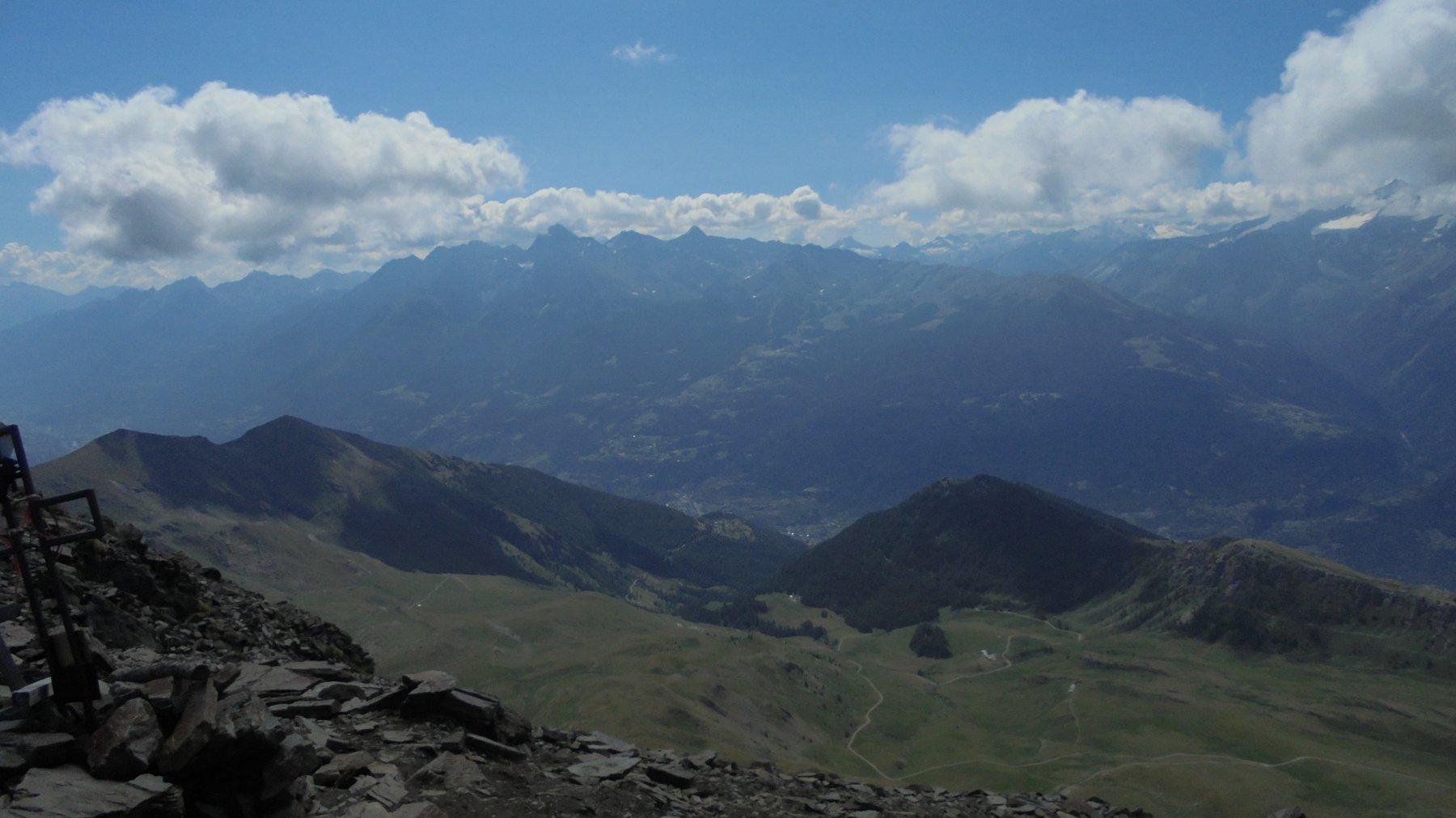 Valle Centrale dalla vetta