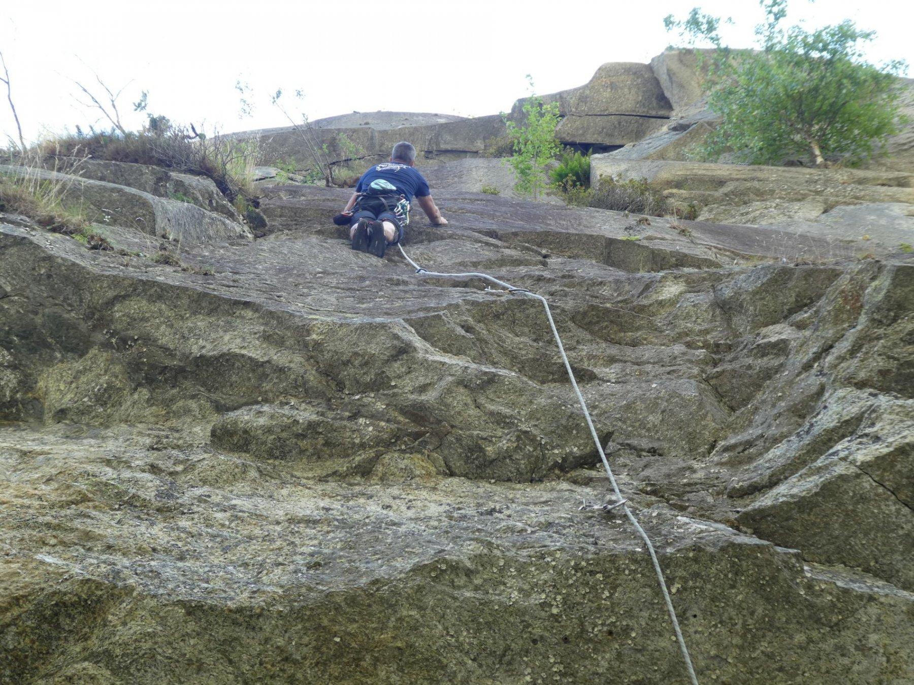 prova della via in arrampicata