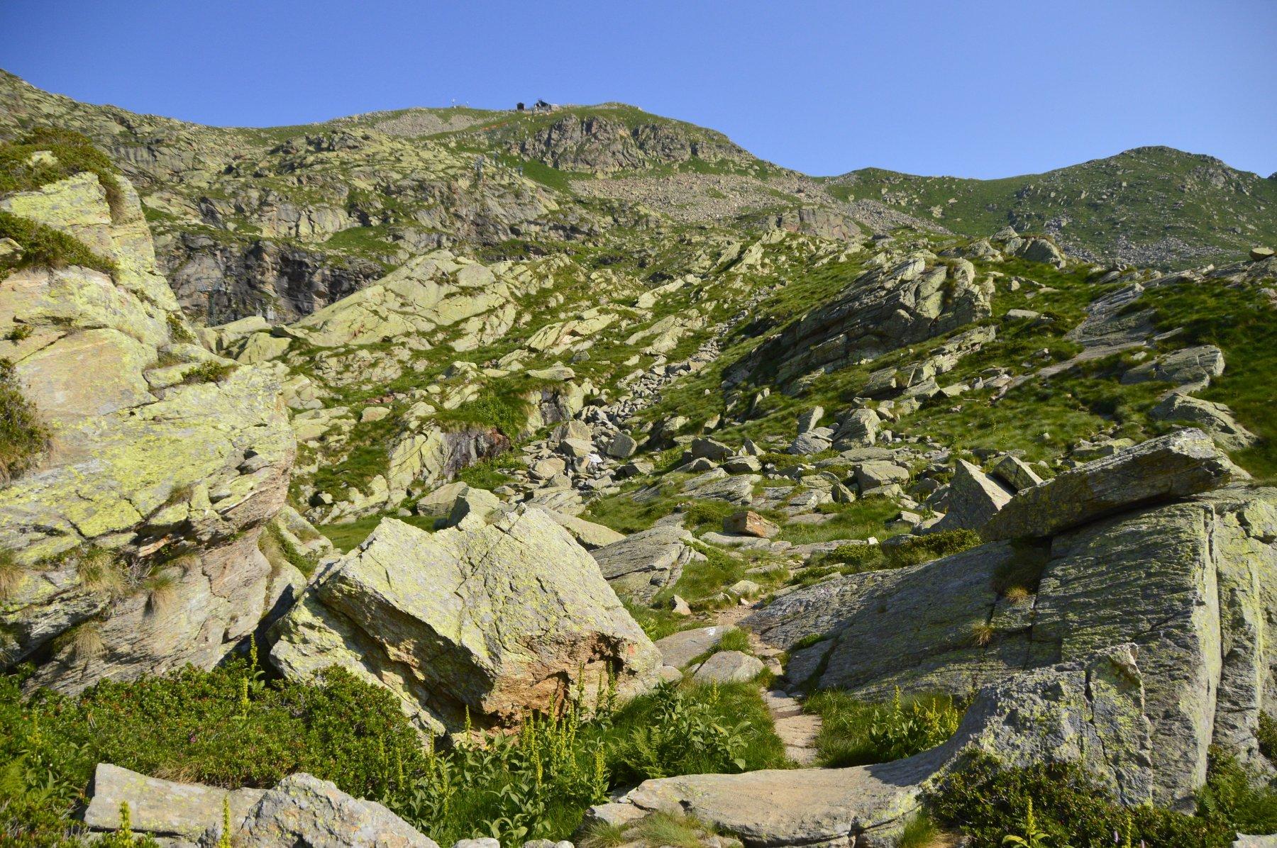 Verso il monte Camino