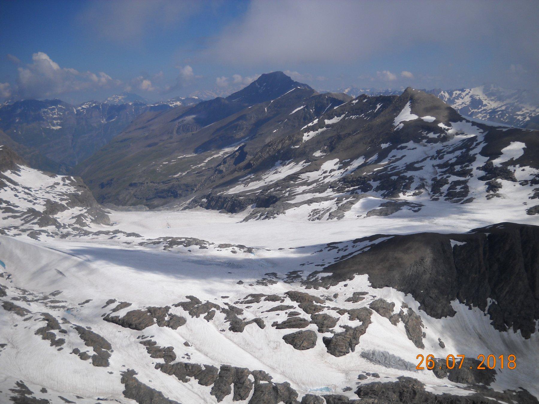 panorama verso il ghiacciaio