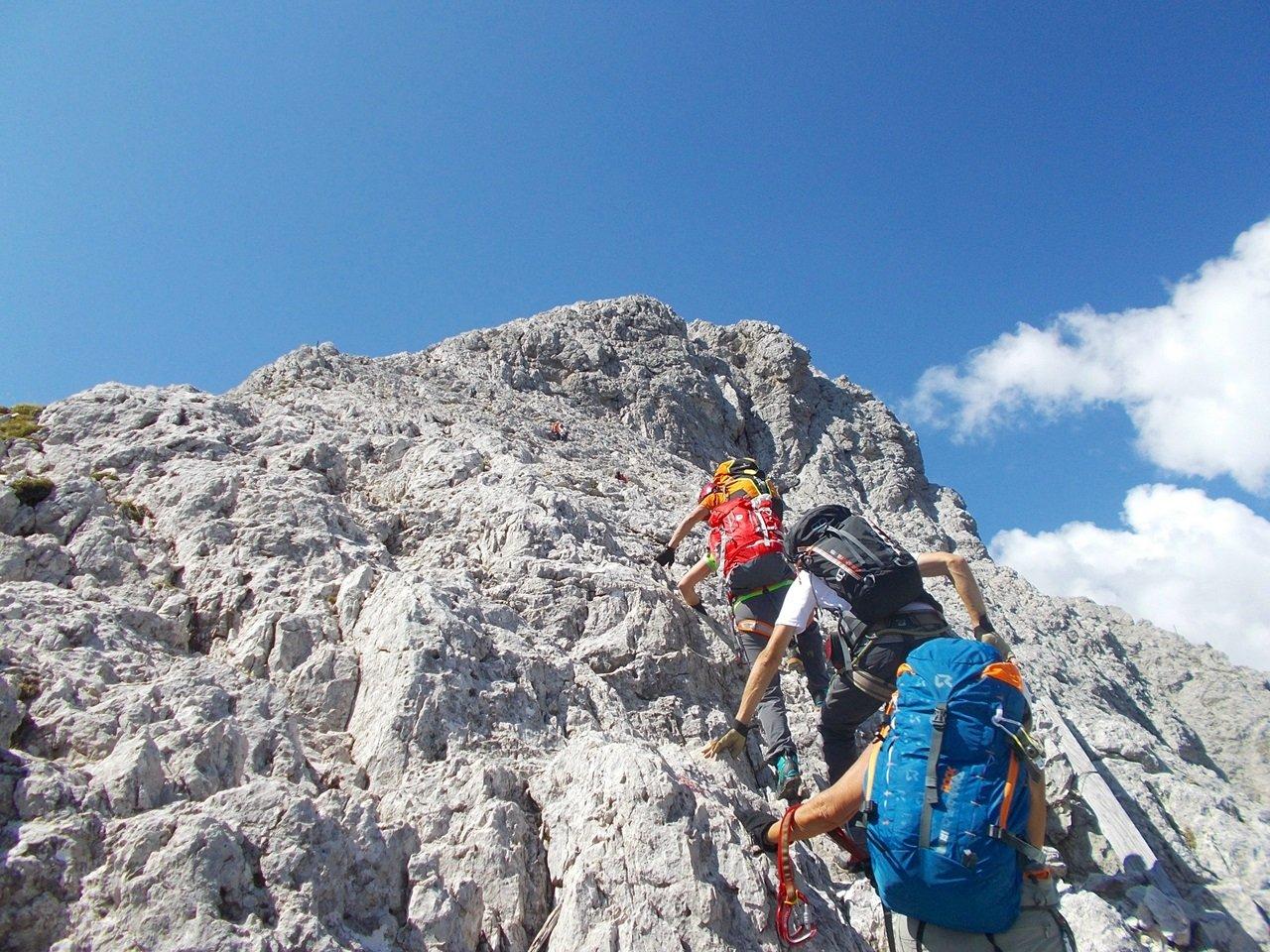 tratto di facile arrampicata