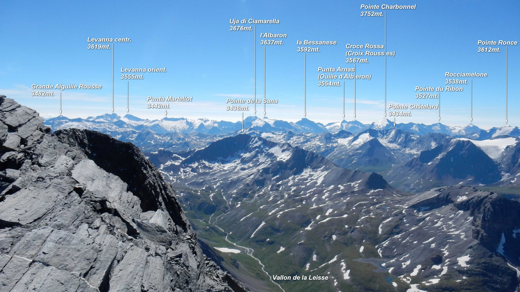 Grandissimo panorama dalla vetta della Grande Casse.