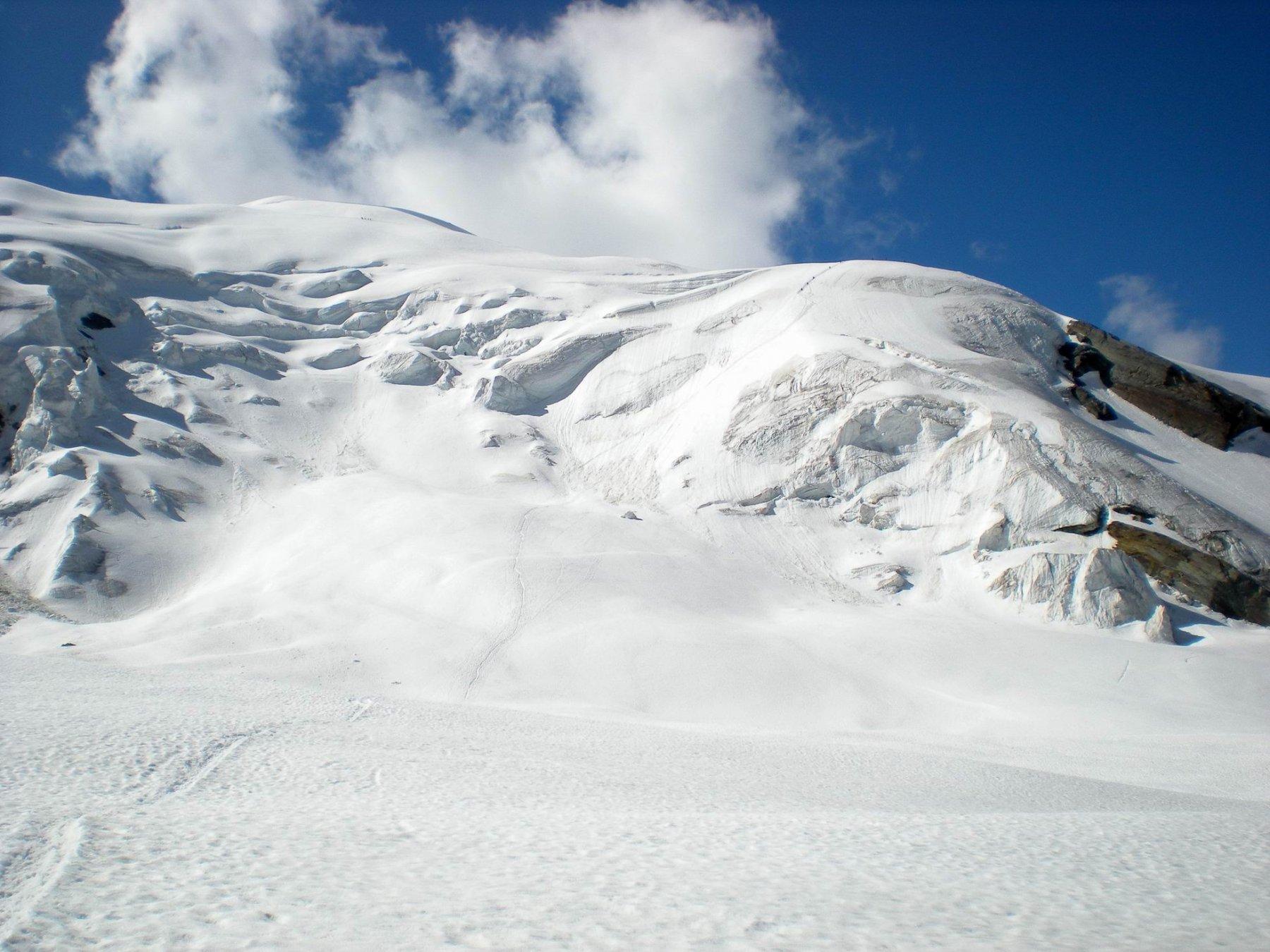 Parte bassa del ghiacciaio verso Hohsaas nel 2009
