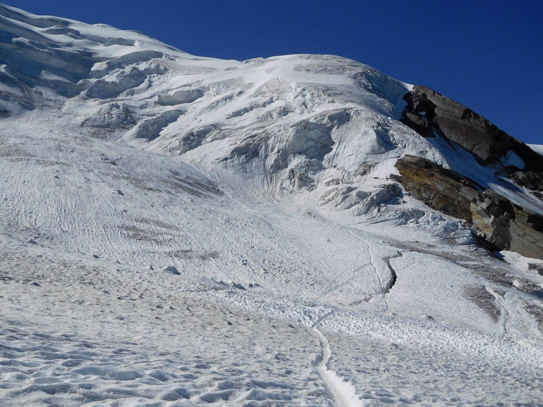 Parte bassa del ghiacciaio verso Hohsaas