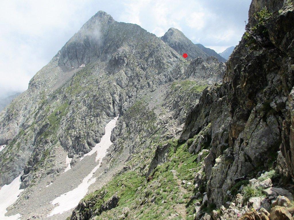 Dal canalino sud il passo Carbonè,e cima del lago Carbonè