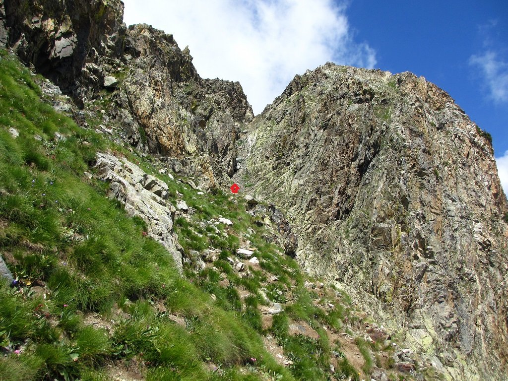 Canalino sud al monte Carbonè