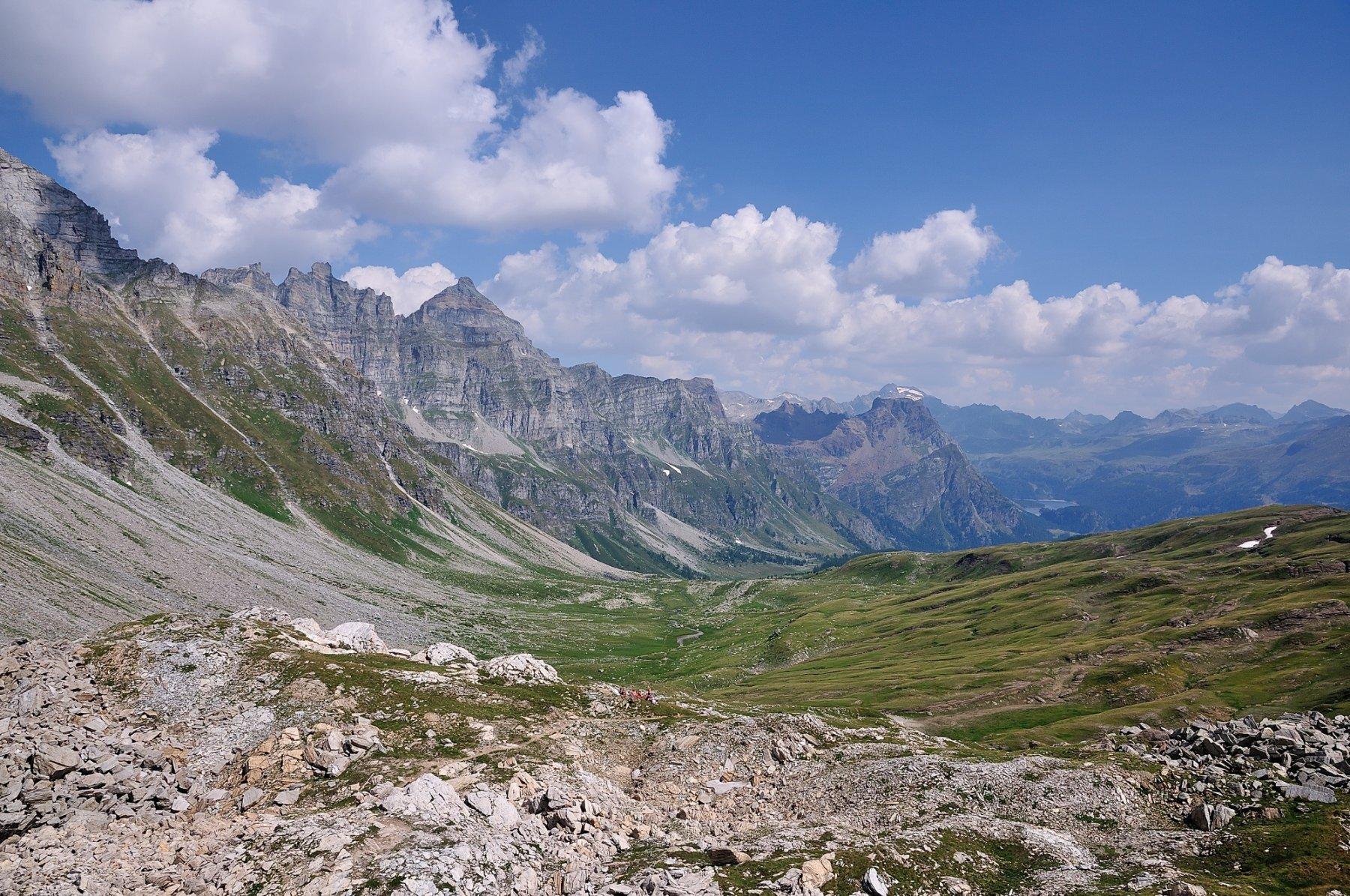 Val Buscagna vista dalla Scatta d'Orogna