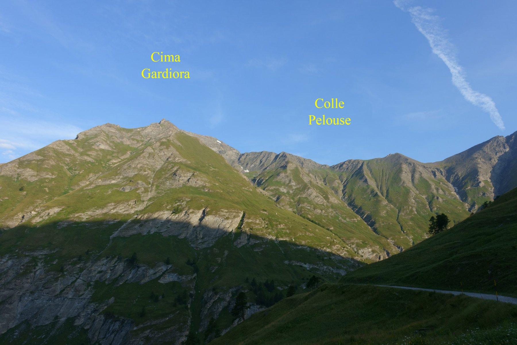 La cima ed il Colle da prima della diga di Rochemolles
