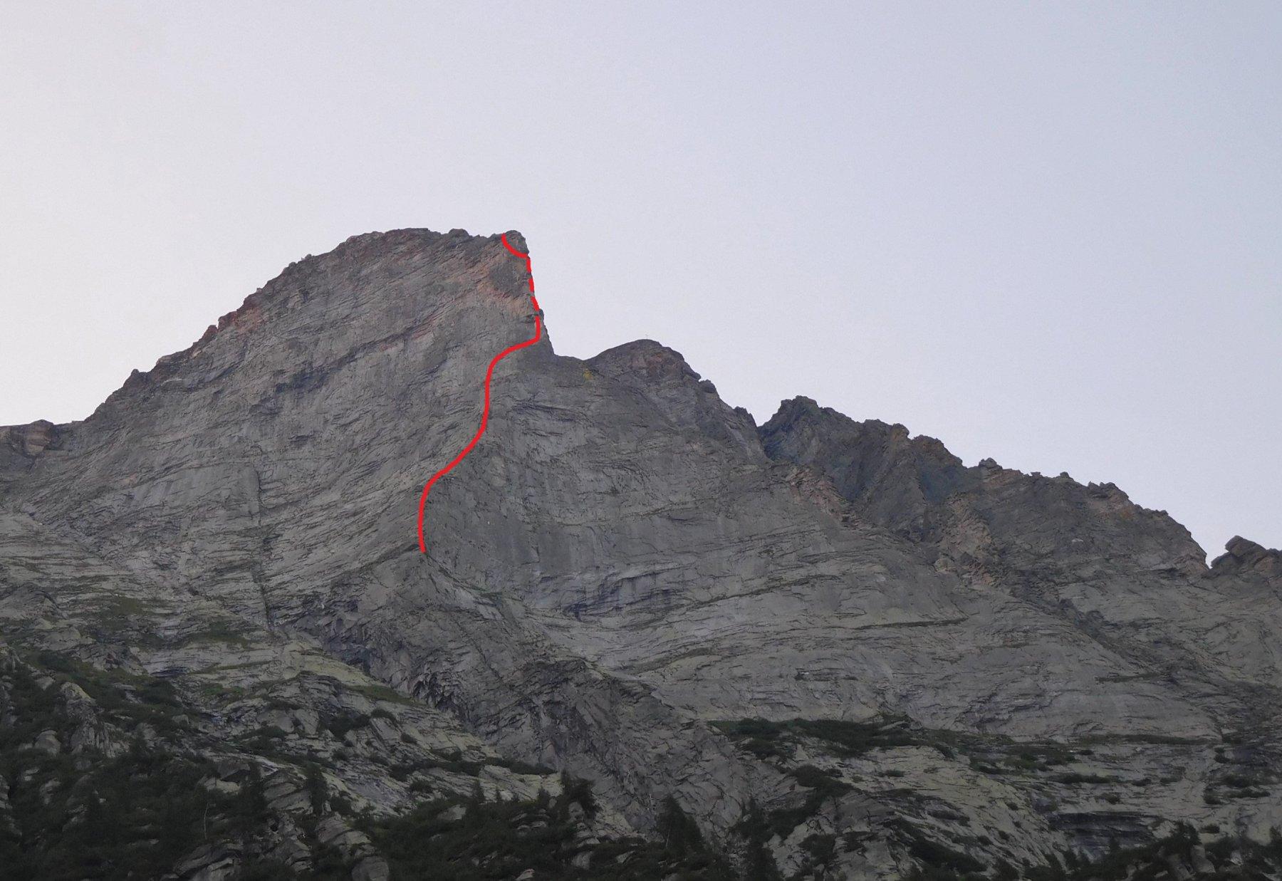 La linea (approssimativa) seguita dalla via.