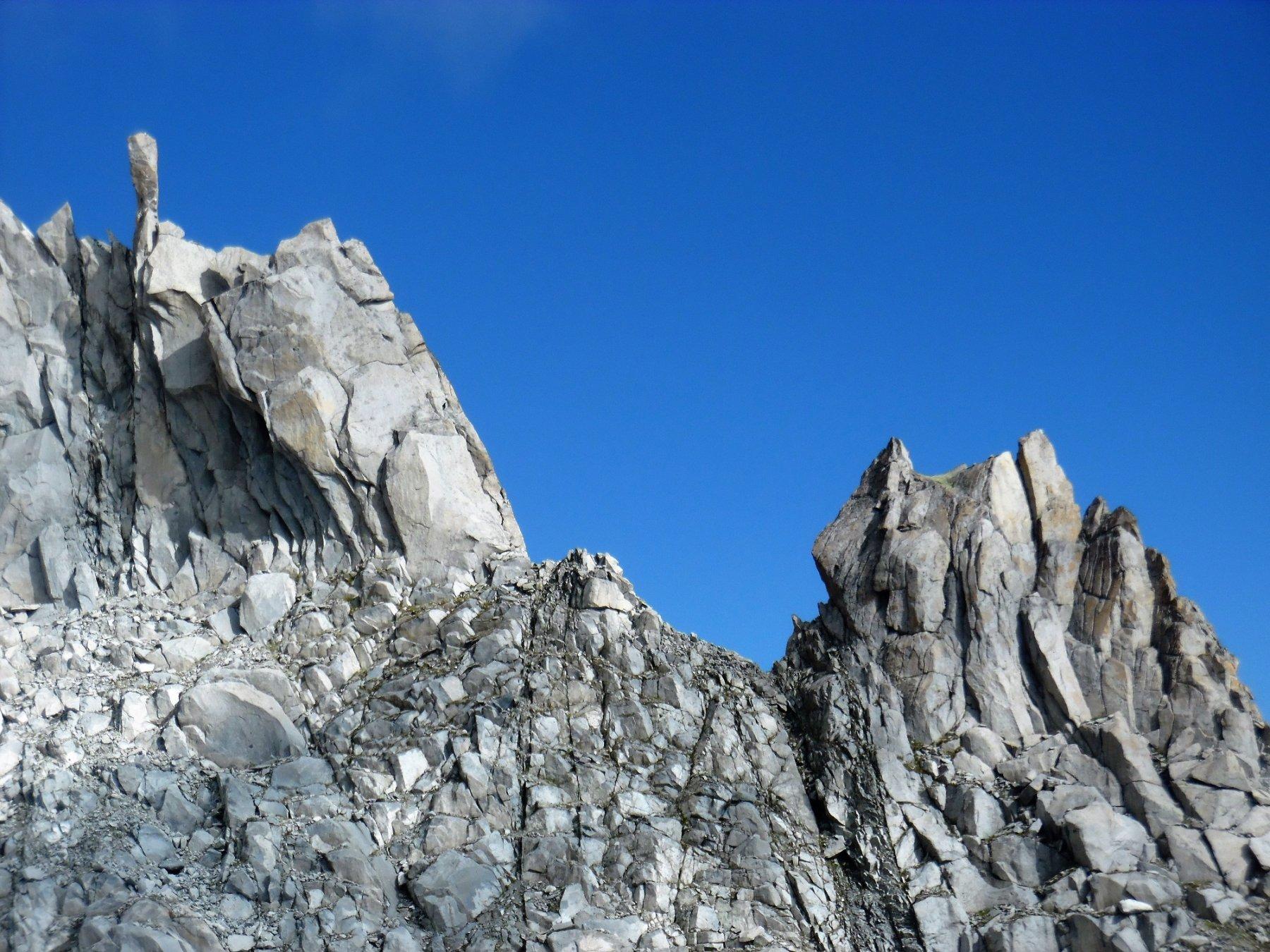 Particolari forme della cresta granitica