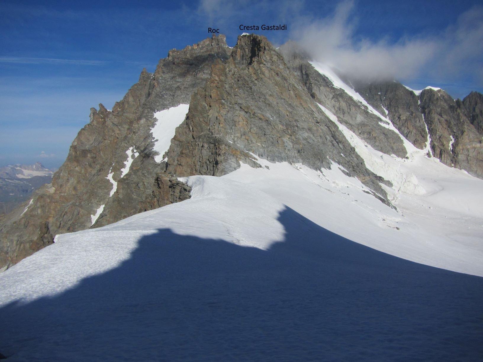Cresta Gastaldi e Roc sullo sfondo