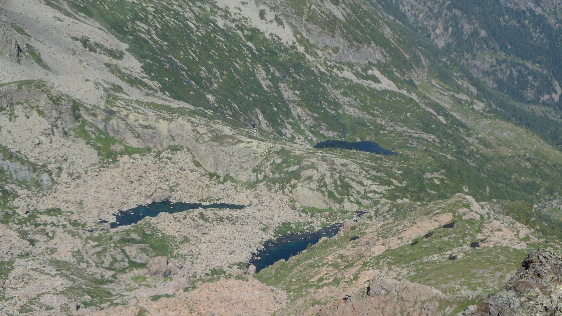 Laghi Verdi e lago Paschiet da cima Chiavesso