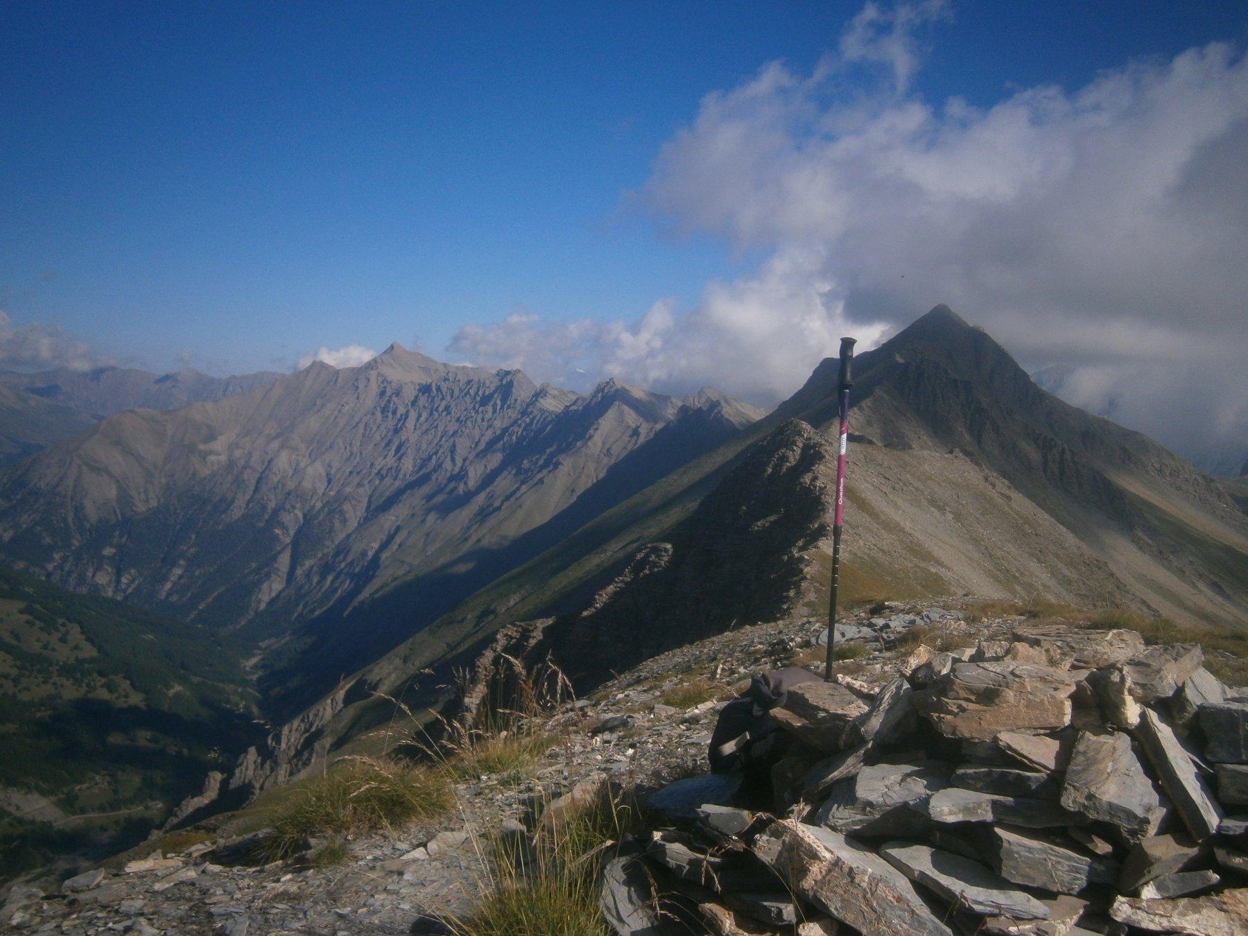 Dalla Parassac la cresta continua verso il Corrouit e il Siguret