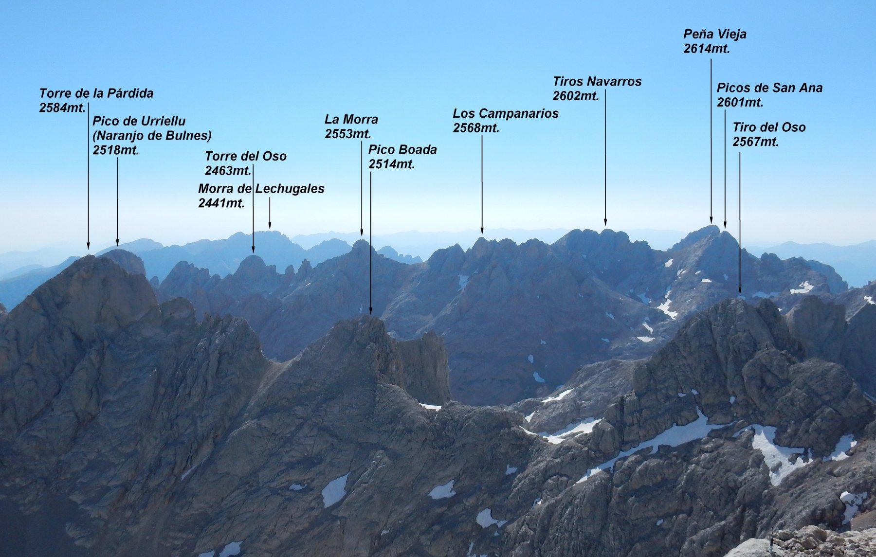 Panorama dal Torrecerredo.